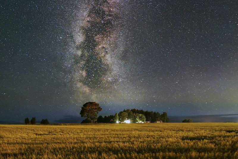 Stjärnhimlen ljusföroreningar